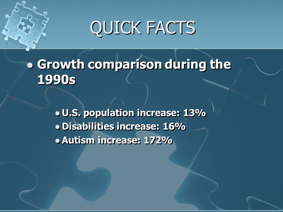 QUICK FACTS Growth comparison during the 1990s