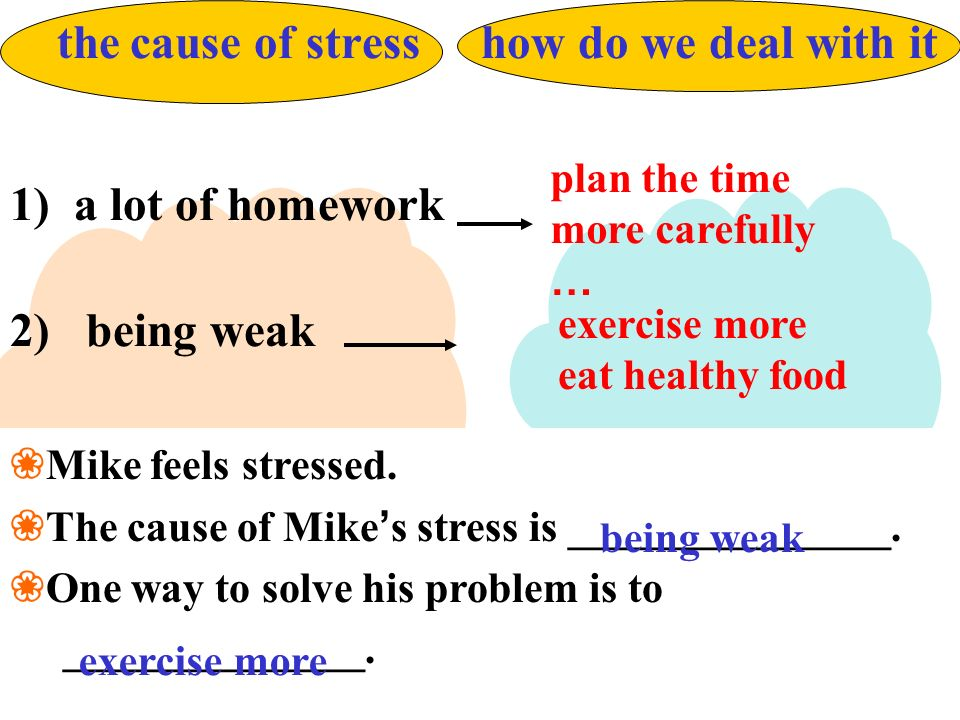a lot of homework 2) being weak plan the time more carefully …