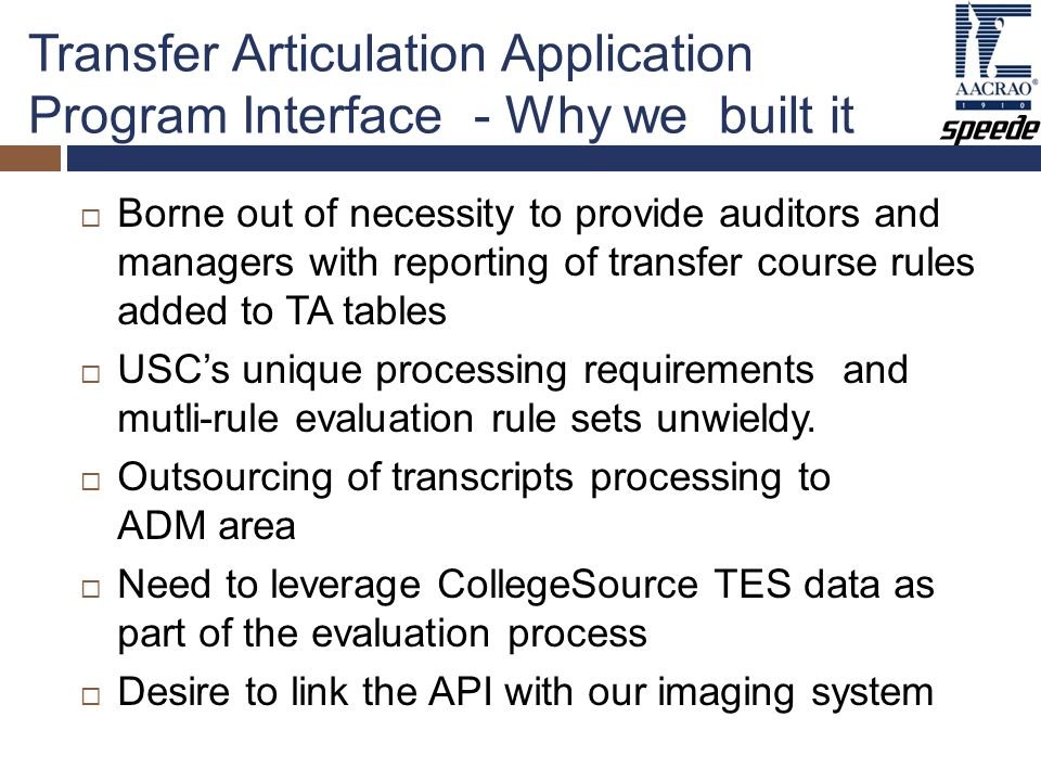 Matt bemis usc jim bouse university of oregon ppt download transfer articulation application program interface why we built it platinumwayz