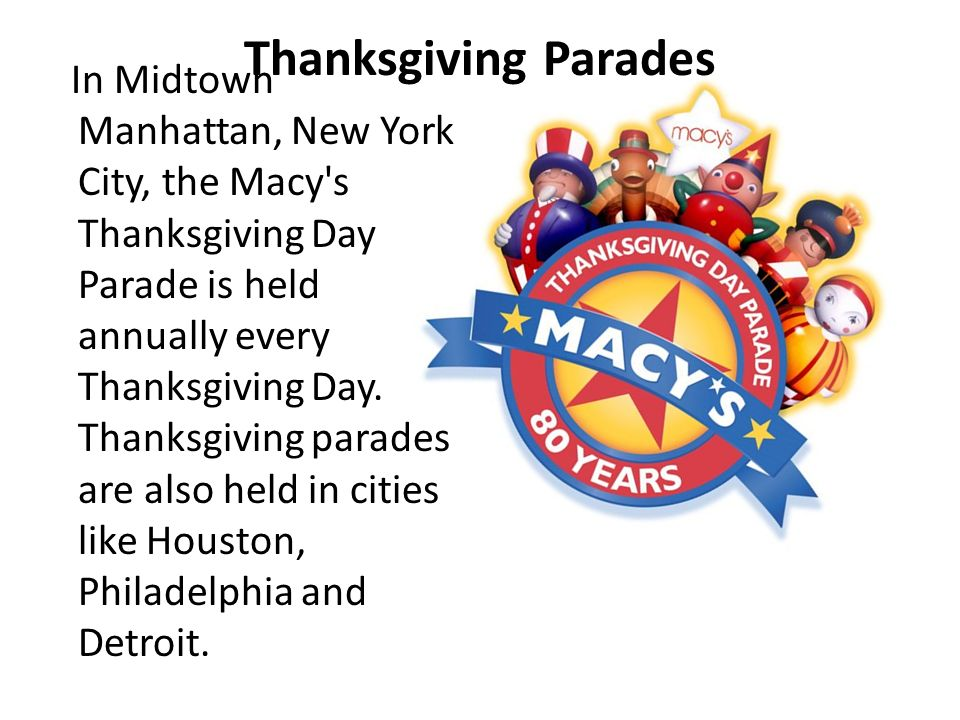 Thanksgiving Parades