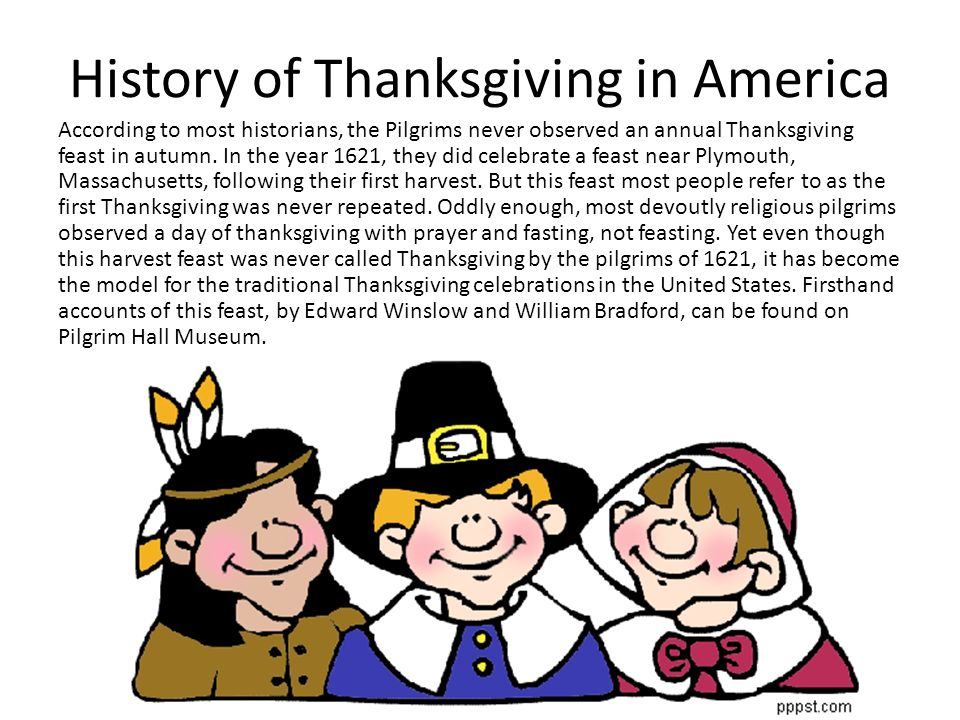 History of Thanksgiving in America