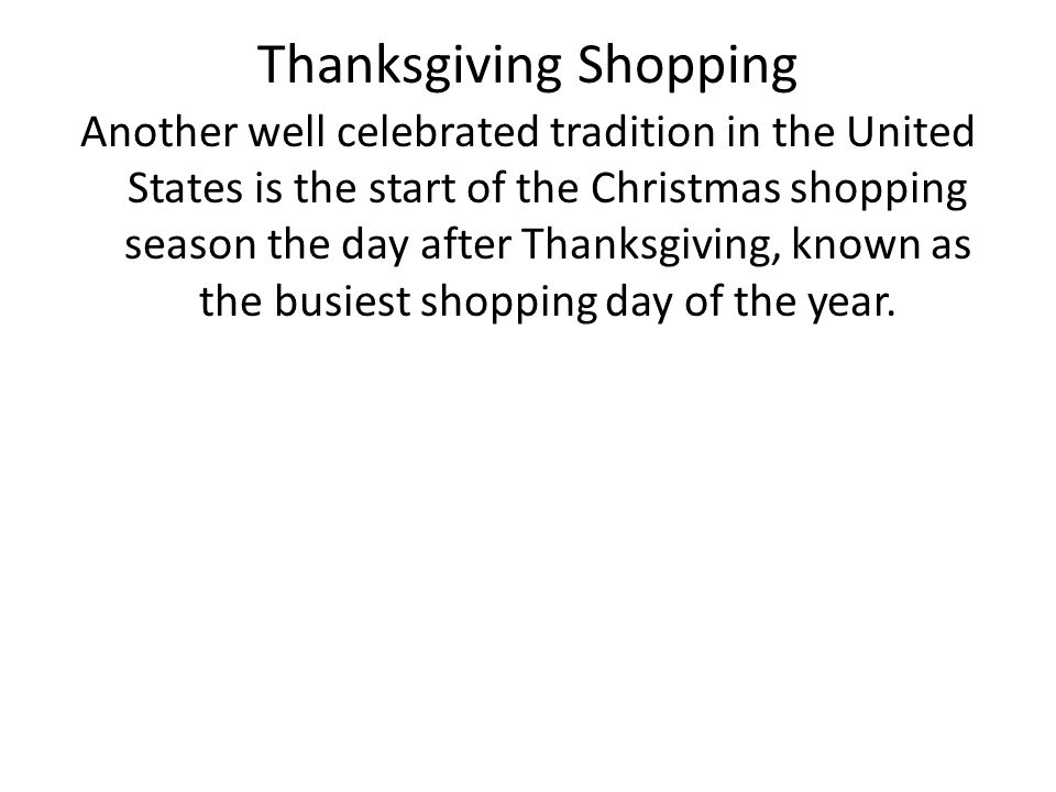 Thanksgiving Shopping