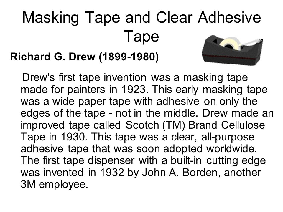 Masking Tape and Clear Adhesive Tape