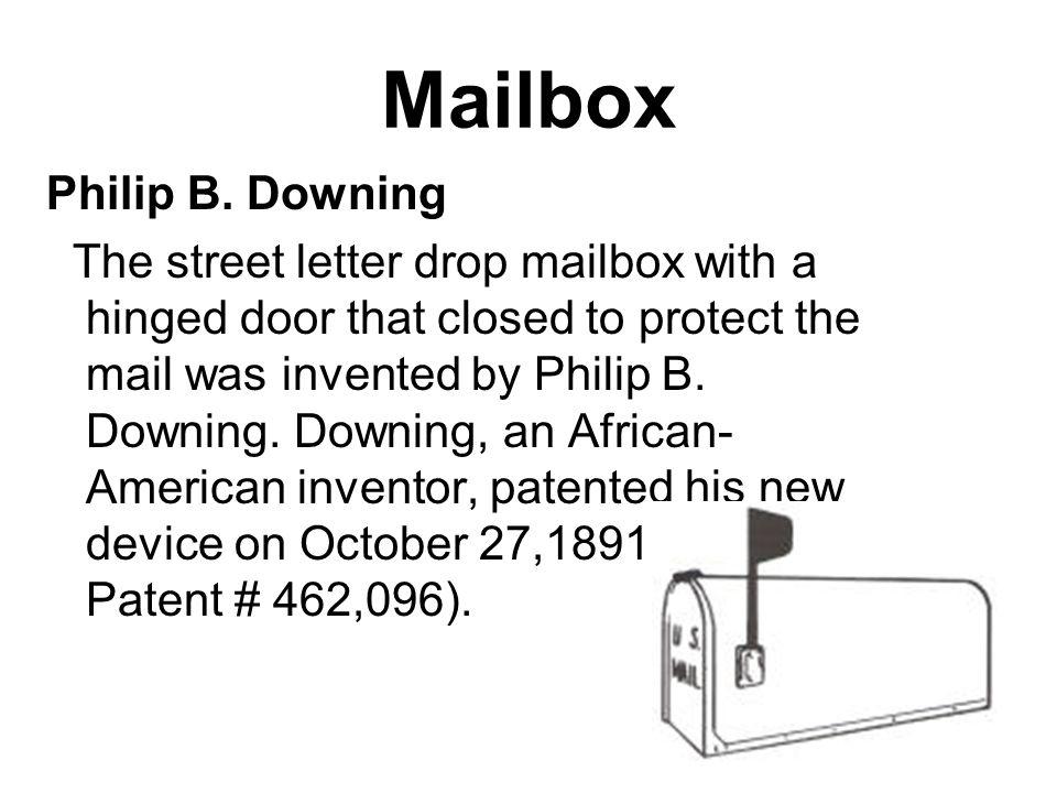 Mailbox Philip B. Downing
