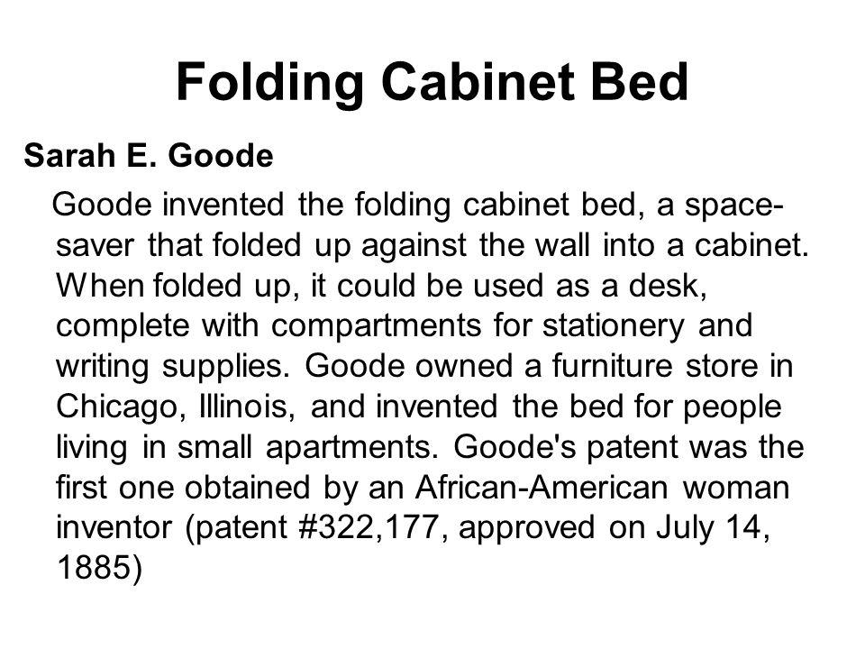 Folding Cabinet Bed Sarah E. Goode