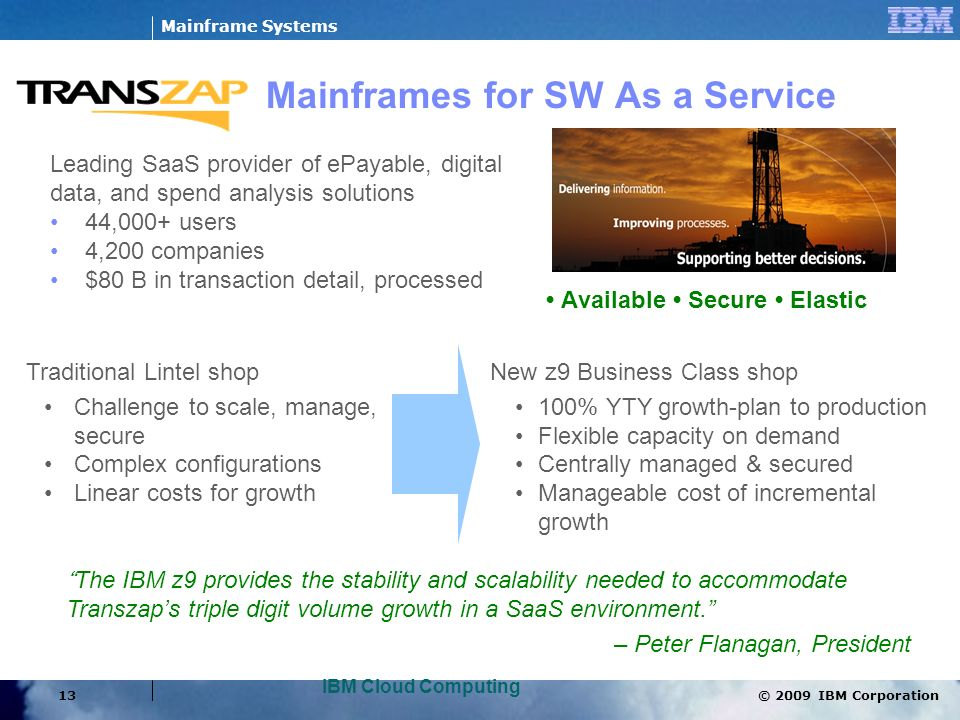 Mainframes for SW As a Service