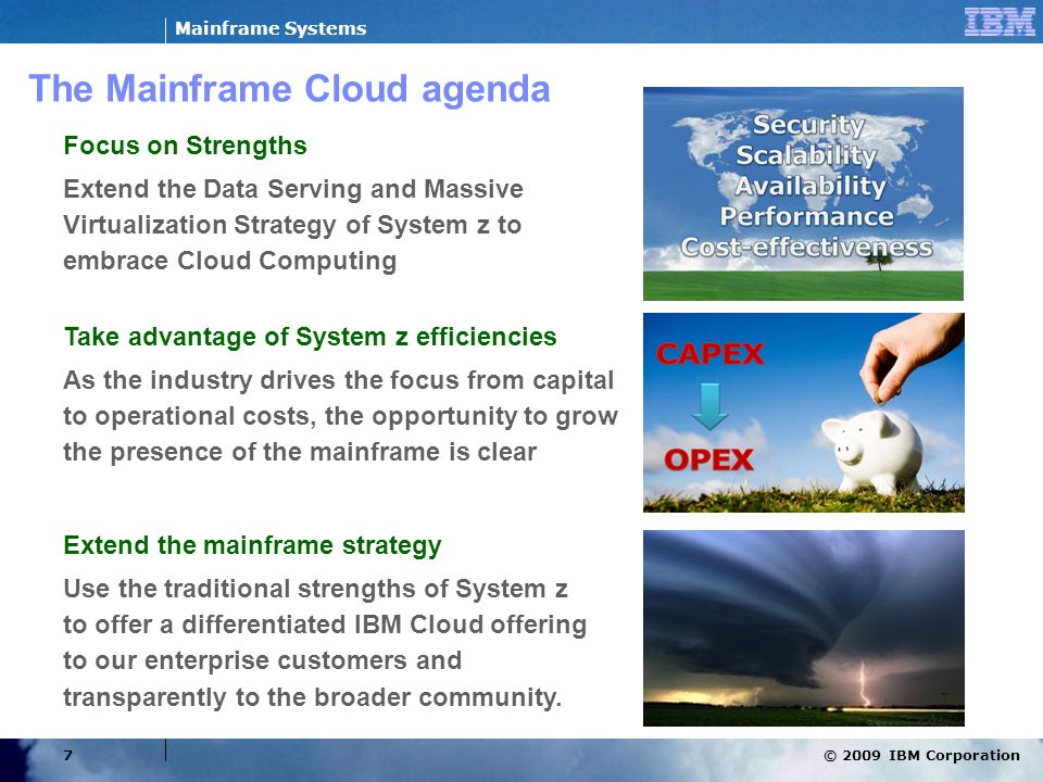 The Mainframe Cloud agenda