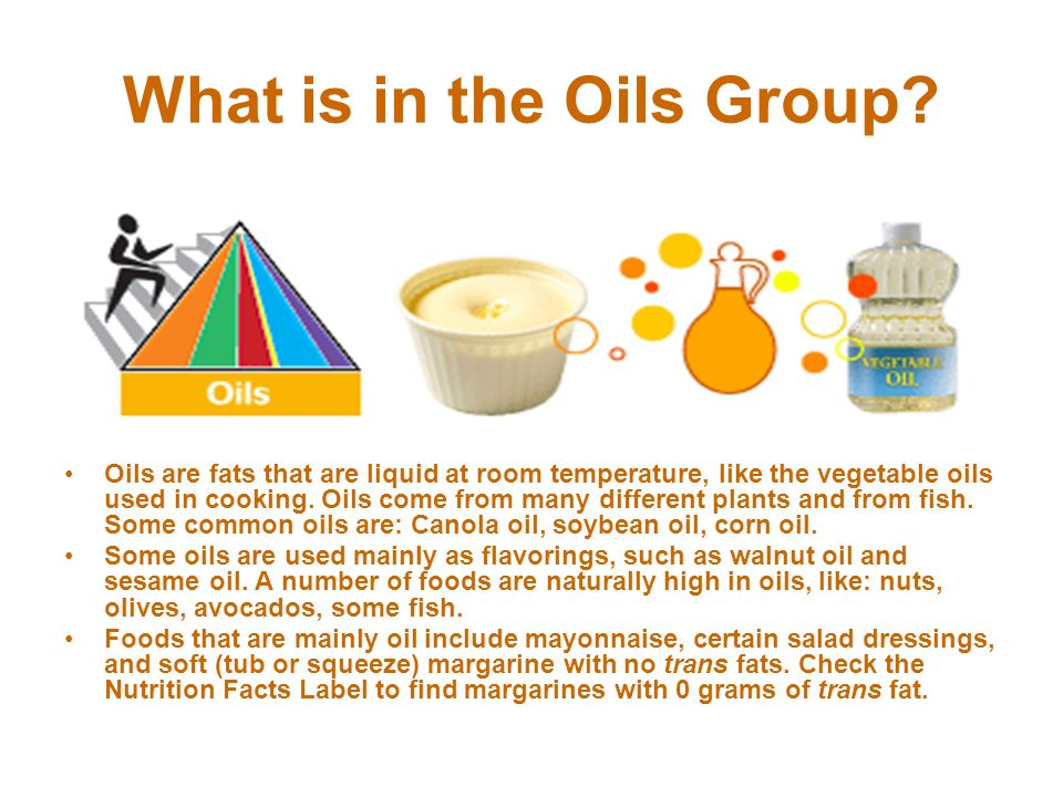 What is in the Oils Group