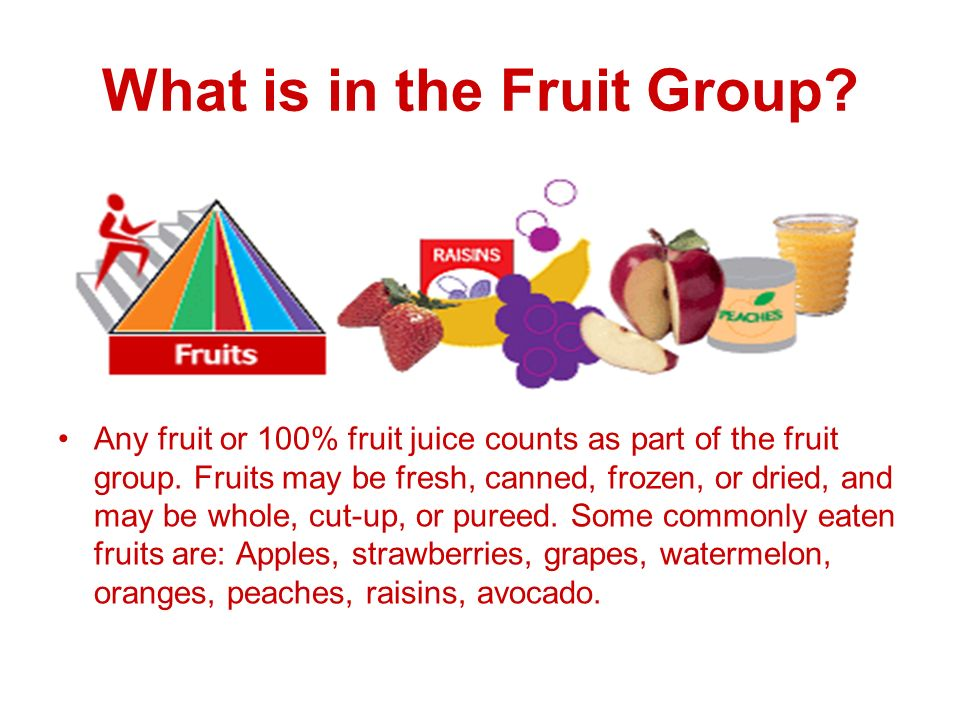 What is in the Fruit Group