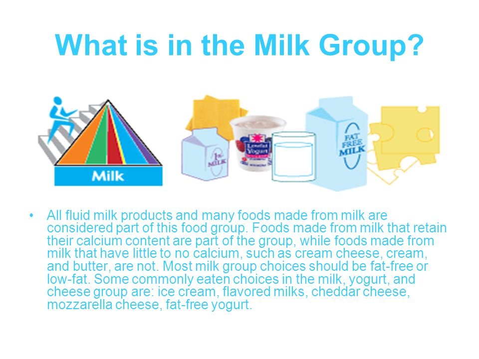 What is in the Milk Group