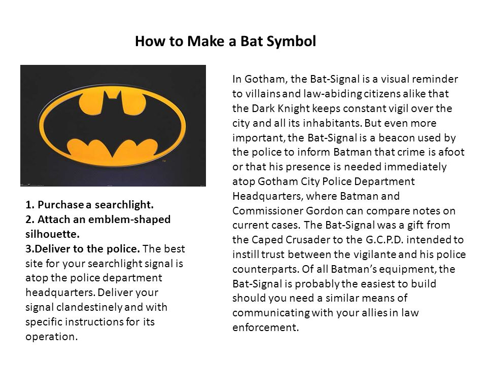 How to Make a Bat Symbol