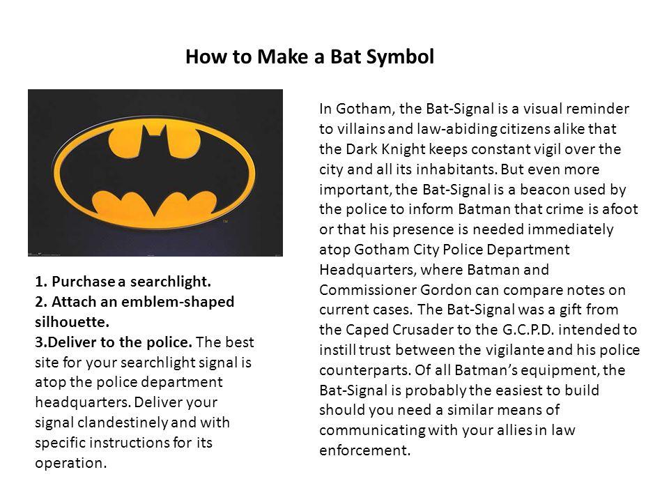 How to Make a Bat Symbol