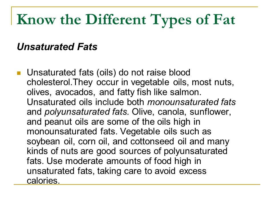 Know the Different Types of Fat