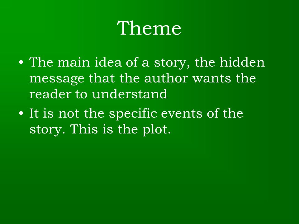Difference Between Theme and Main Idea