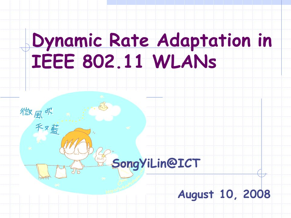 Dynamic Rate Adaptation in IEEE WLANs