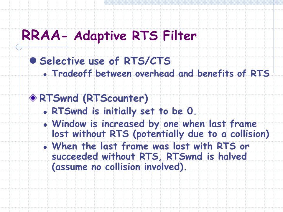 RRAA- Adaptive RTS Filter