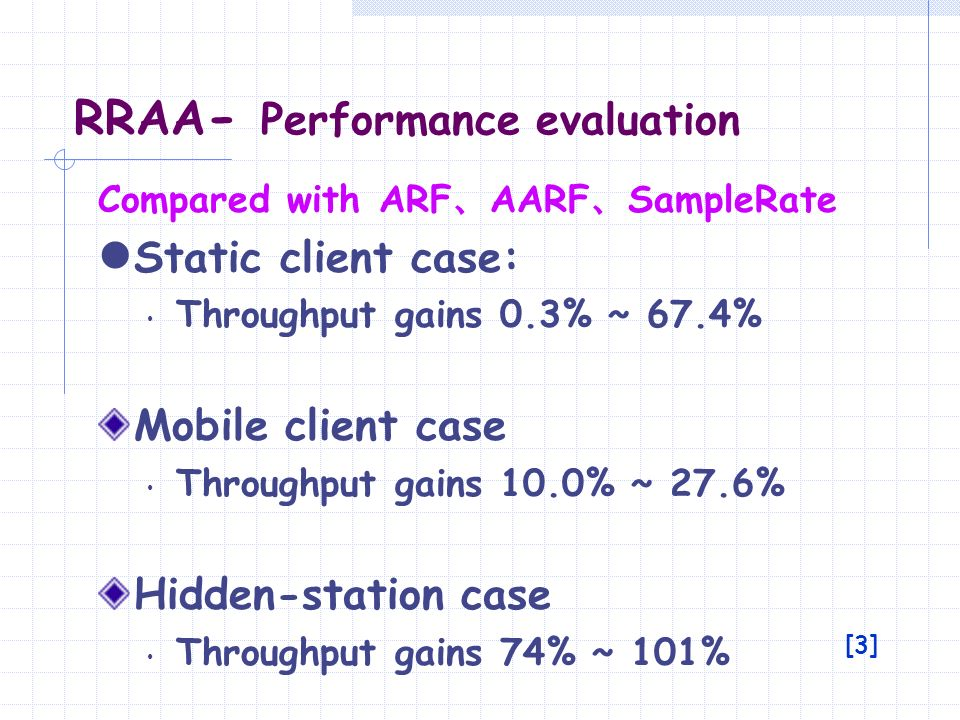 RRAA- Performance evaluation