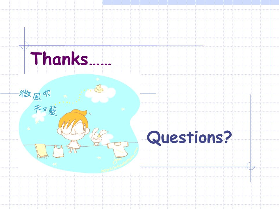 Thanks…… Questions