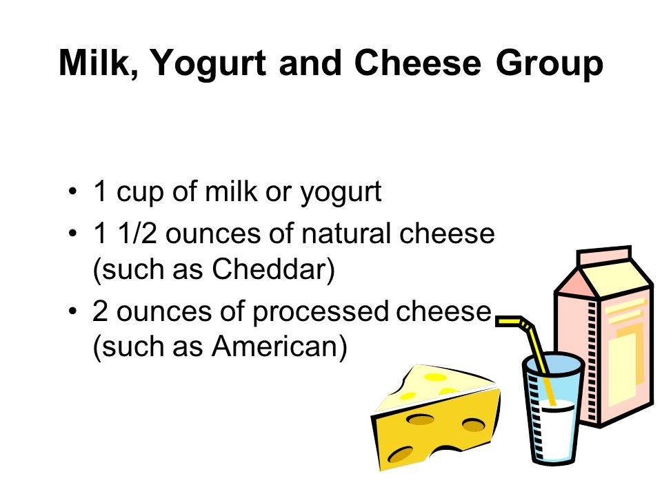 Milk, Yogurt and Cheese Group