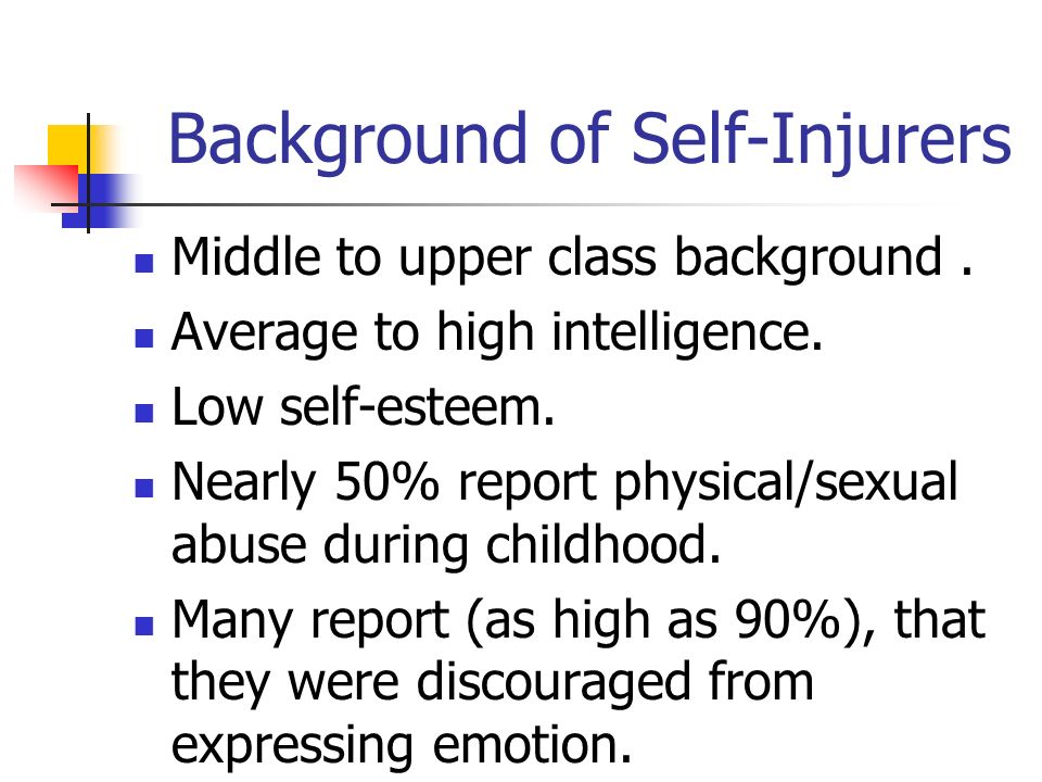 Background of Self-Injurers