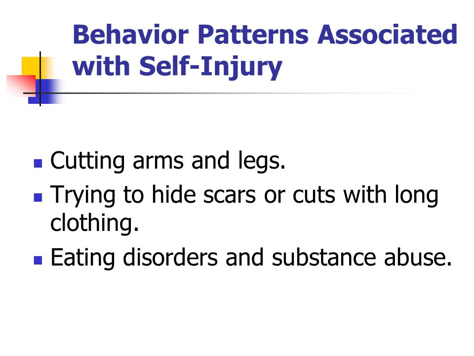 Behavior Patterns Associated with Self-Injury