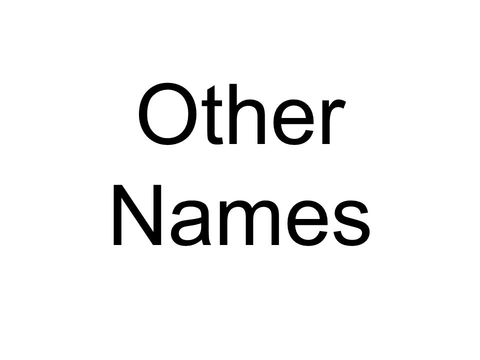 Other Names