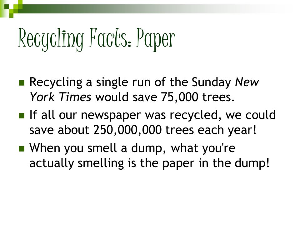 Recycling Facts: Paper