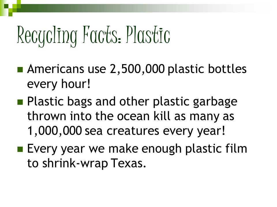 Recycling Facts: Plastic