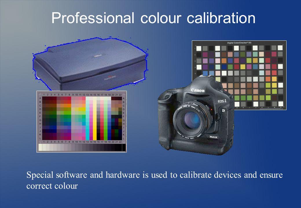 Professional colour calibration