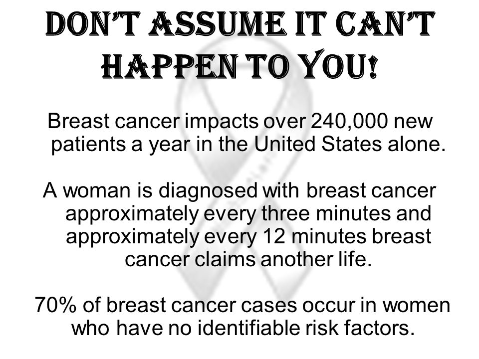 Don't assume it can't happen to You!