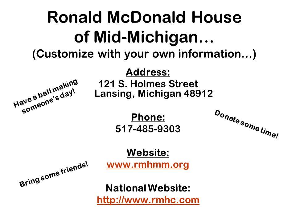 121 S. Holmes Street Lansing, Michigan 48912