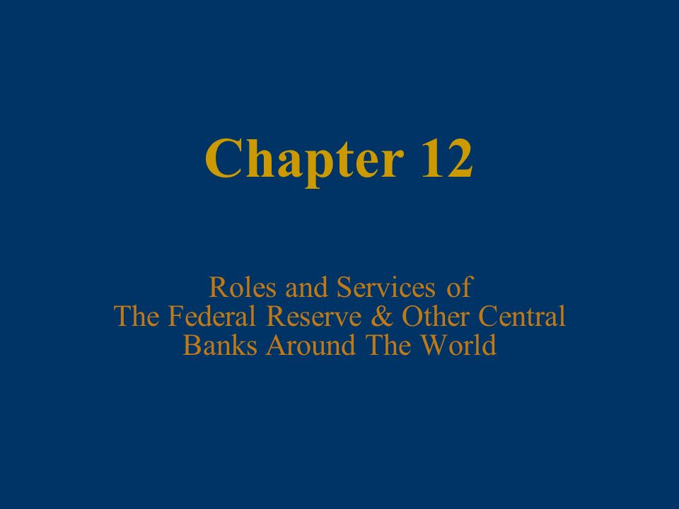 an analysis of federal reserve banks role The fed's role in banking and creates supervisory policy for the federal reserve regulation activities are delegated to the reserve banks.