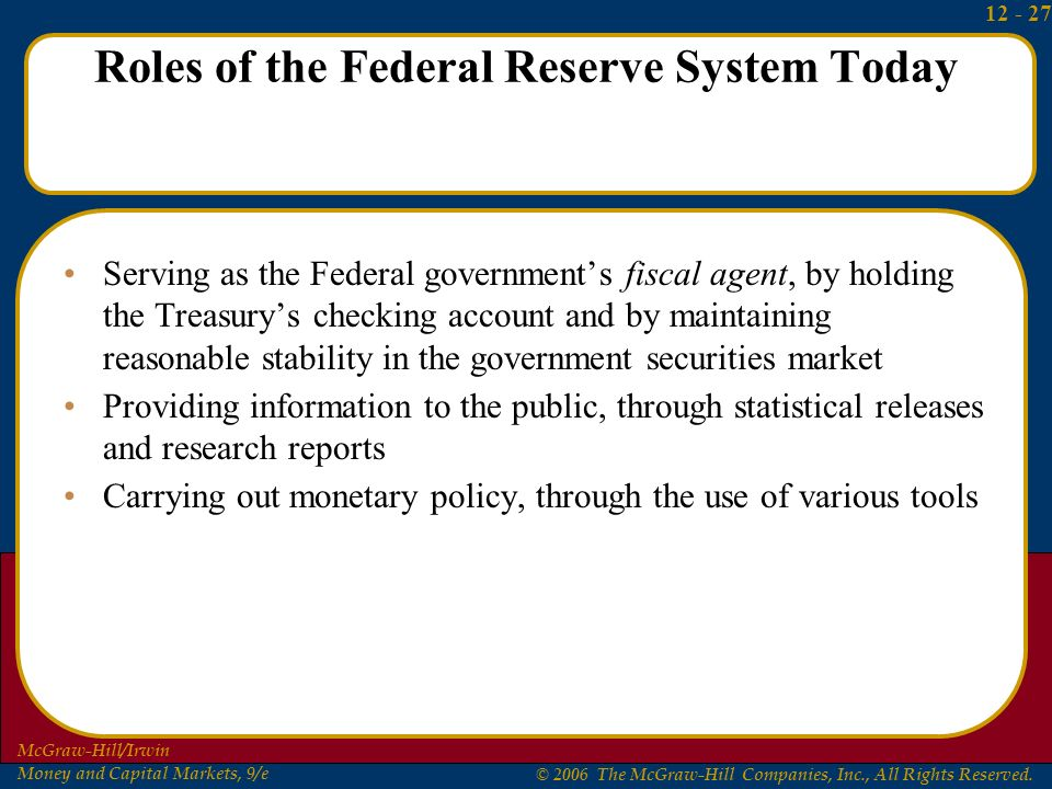 Is the role of the Federal Reserve still relevant