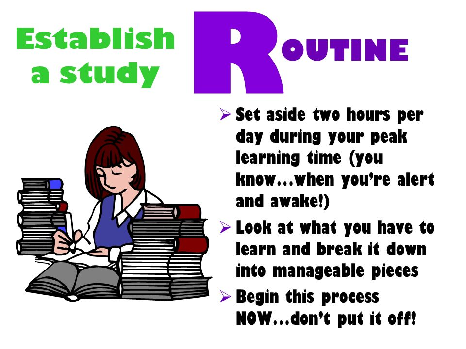 Establish a study OUTINE R