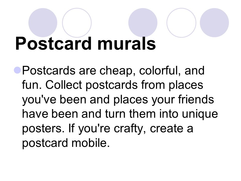 Postcard murals