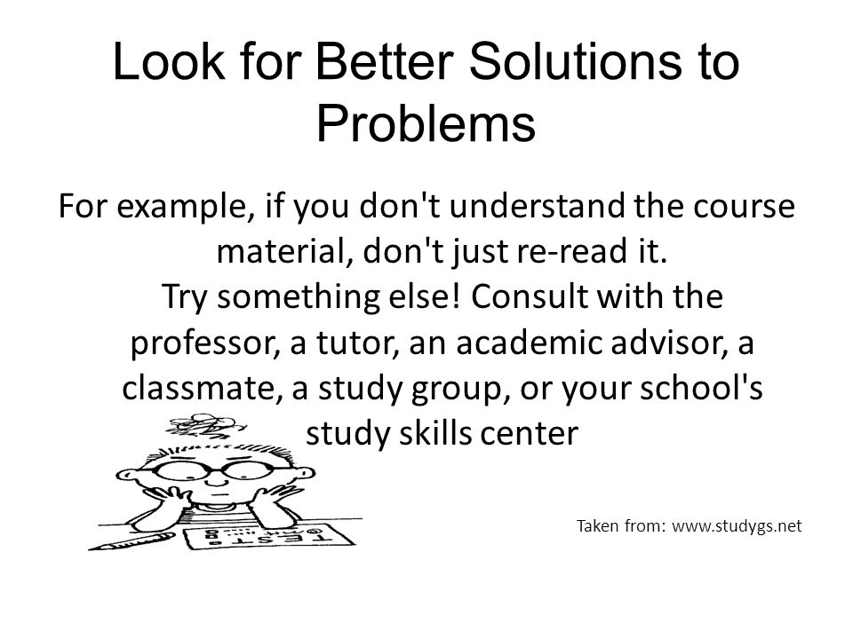 Look for Better Solutions to Problems