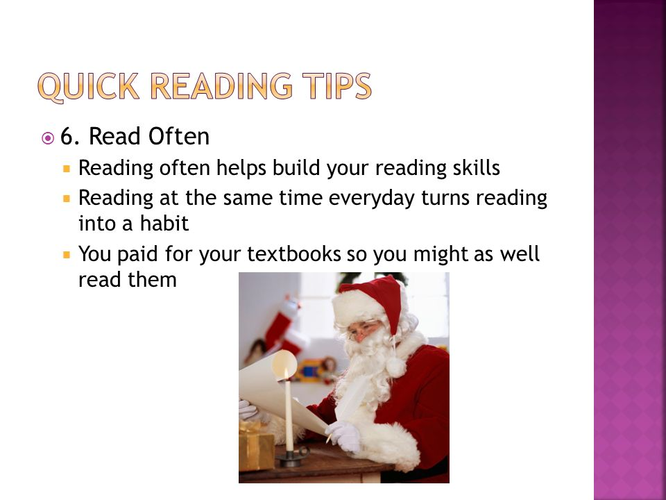 Quick Reading Tips 6. Read Often