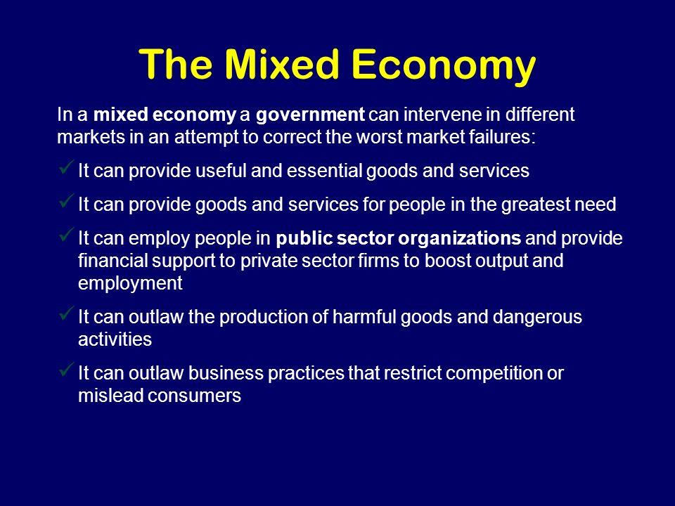 advantages of mixed economy pdf