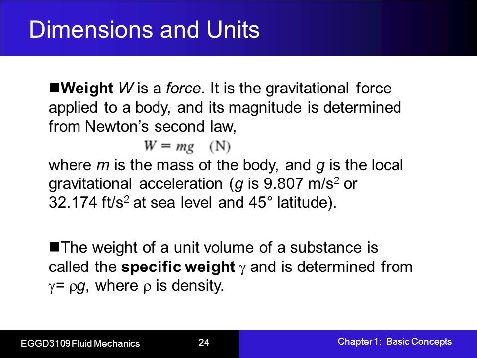 Fluid mechanics units and dimensions pdf