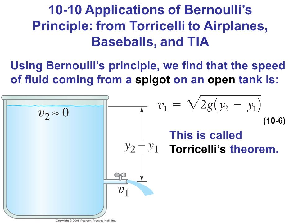 application of bernoulli s theorem Applications of bernoulli's theorem: 1 air foil: any surface designed so as to obtain reacting force from the air through which it moves is called.