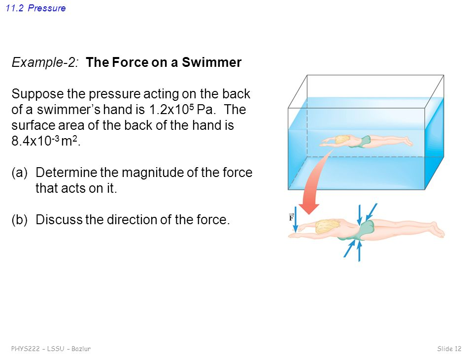Example-2: The Force on a Swimmer