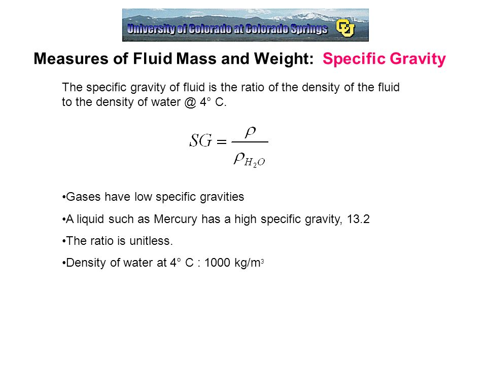 specific gravity and viscosity relationship