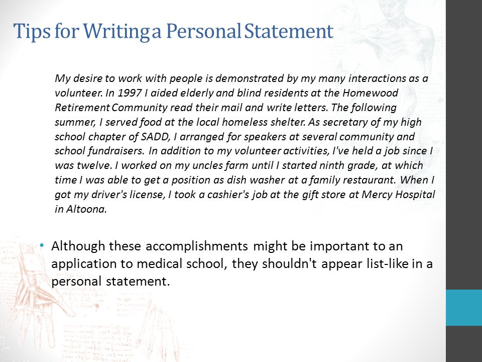 tips on writing a personal statement Find out how you can perfect your personal statement to show why you deserve a place on your dream university course.