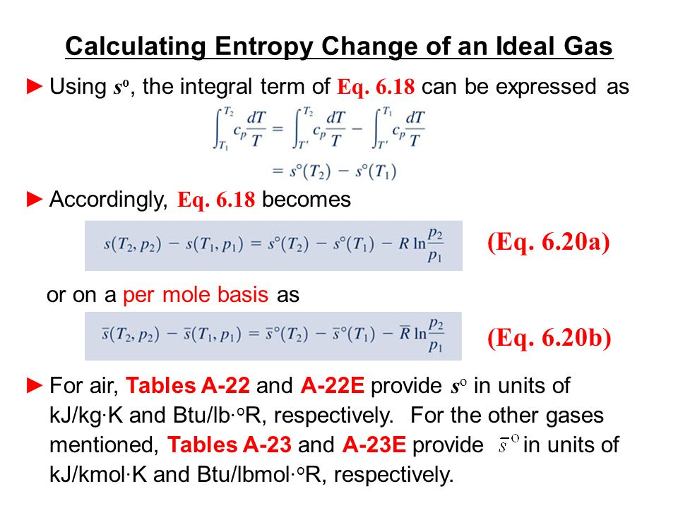 Calculating Entropy Change Of An Ideal Gas