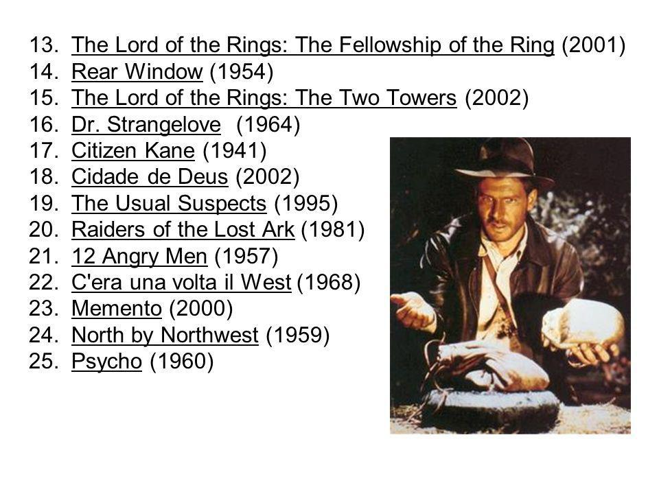 13. The Lord of the Rings: The Fellowship of the Ring (2001)