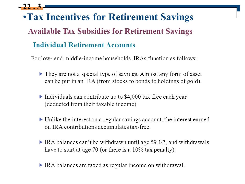 savings incentives for low and middle income