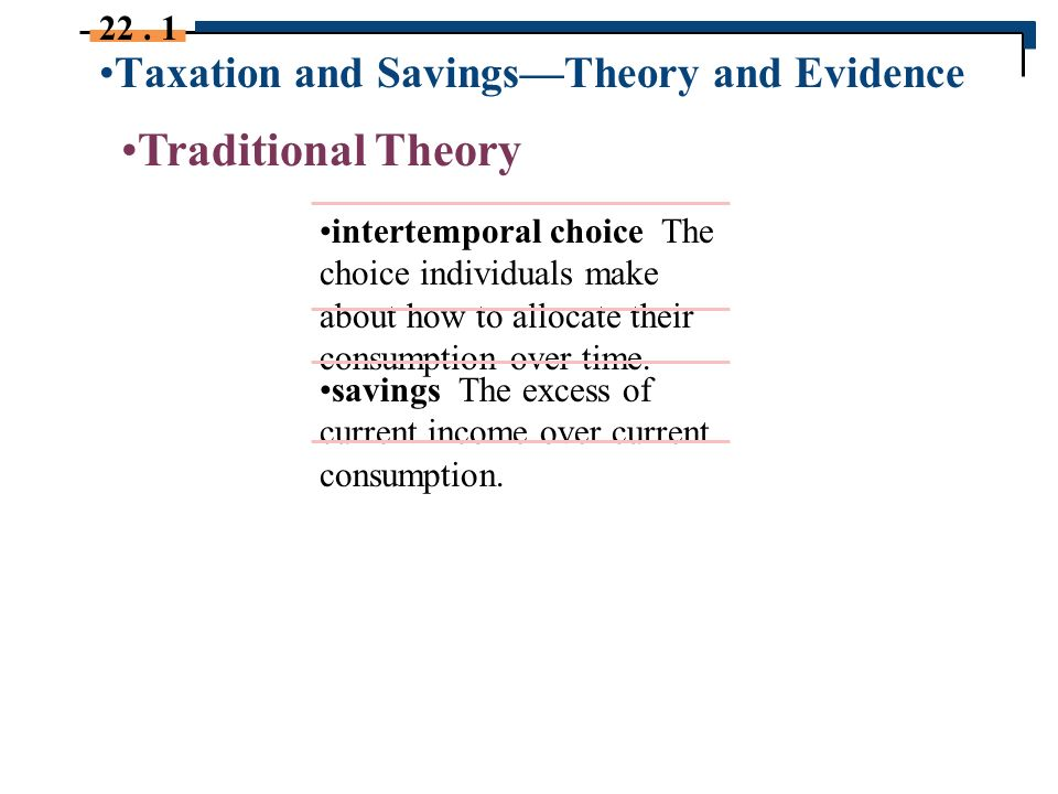 theories on taxation The optimal design of a tax system is a topic that has long fascinated economic theorists and flummoxed economic policymakers this paper explores the interplay between tax theory and tax policy it identifies key lessons policymakers might take from the academic literature on how taxes ought to be designed, and it.