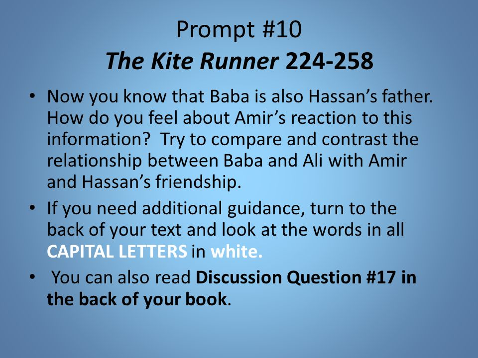 comparison kite runner and east of