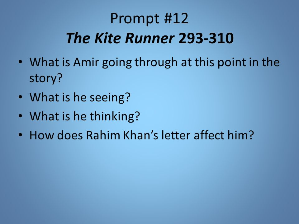 rahim khan s advice in the kite The kite runner is a novel written in 2003 by khaled hosseini adaptation dye -job: in the book, amir was described as having light brown hair with hazel eyes and assef having the blond hair and blue eyes of his german mother he even provides moral advice to amir, although he flatly disdains organised religion.