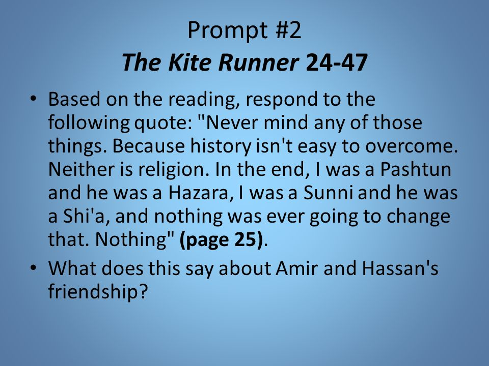 "the kite runner redemption The kite runner important quotes this list of important quotations from ""the kite runner"" by ­­ khaled  and that, i believe, is what true redemption."